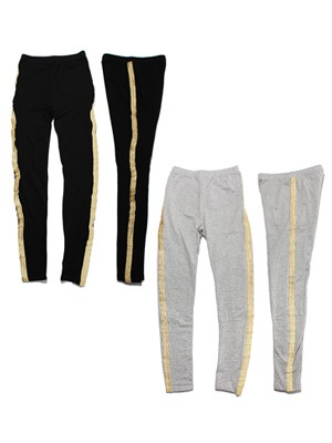 Tome2H(トミトエイチ)/ GOLD CHENILLE LEGGINGS -Lady's-