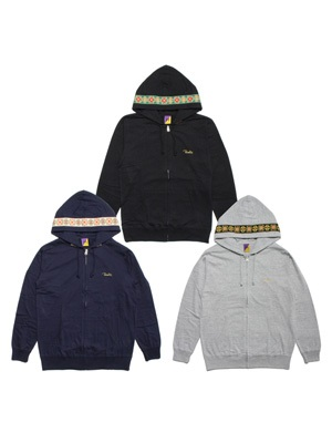 Tome2H(トミトエイチ)/ EMBROIDERY TAPE LIGHT ZIP HOODY -Lady's-