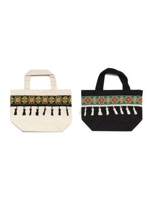Tome2H(トミトエイチ)/ EMBROIDERY TAPE LUNCH BAG -BASIC- -Lady's-