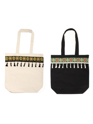 Tome2H(トミトエイチ)/ EMBROIDERY TAPE TOTE BAG -BASIC- -Lady's-