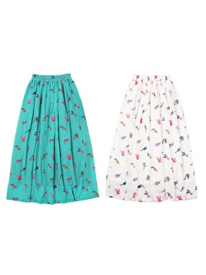 Tome2H(トミトエイチ)/ MEXICAN BIRD LONG SKIRT -Lady's-
