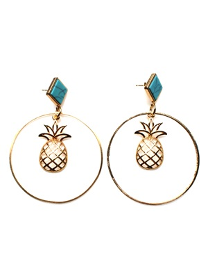 BOW(ボウ)/ TURQUOISE PINEAPPLE PIERCE -Lady's-