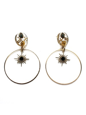 BOW(ボウ)/ HOOP CLEAR PIERCE -Lady's-