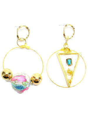 BOW(ボウ)/ HOOP ASYMME PIERCE -Lady's-