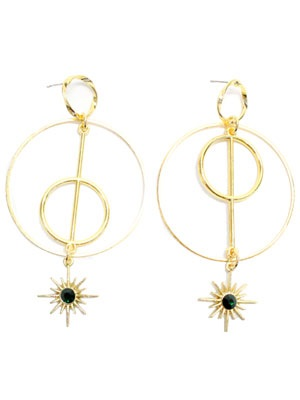 BOW(ボウ)/ GOLD HOOP PIERCE -Lady's-
