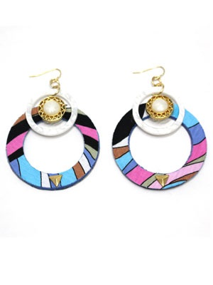 BOW(ボウ)/ COLORFUL HOOP PIERCE -Lady's-