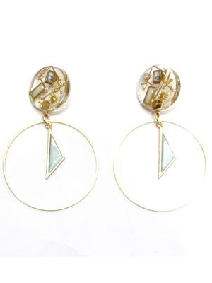 BOW(ボウ)/ CLEAR HOOP PIERCE -Lady's-