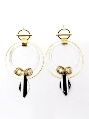 BOW(ボウ)/ MONOTONE HOOP PIERCE-Lady's-
