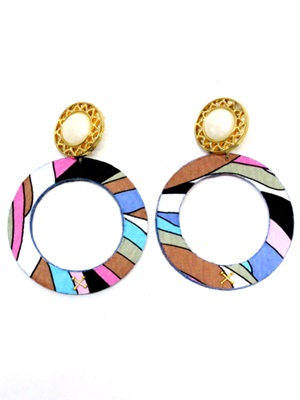 BOW(ボウ)/ PASTEL HOOP PIERCE-Lady's-