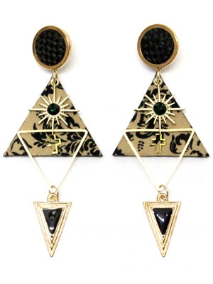 BOW(ボウ)/ BROWN TRIANGLE PIERCE -Lady's-