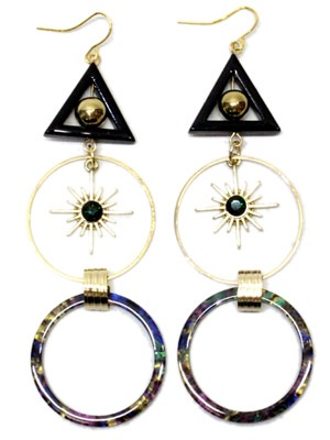BOW(ボウ)/ TRIANGLE HOOP PIERCE -Lady's-