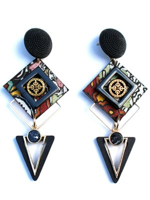 BOW(ボウ)/ SQUARE TRIANGLE PIERCE -Lady's-