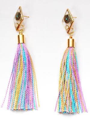 BOW(ボウ)/ DIA TASSEL PIERCE -Lady's-