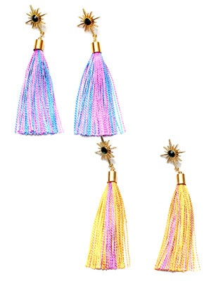 BOW(ボウ)/ SUN TASSEL PIERCE -Lady's-