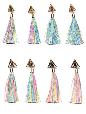 BOW(ボウ)/ TRIANGLE TASSEL PIERCE -Lady's-