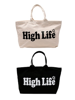 High Life(ハイライフ)/ BIG LOGO ZIP TOTE BAG