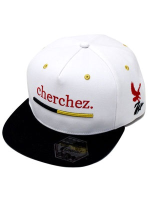 7UNION(セブンユニオン)/ CHERCHEZ LA GHOST CAP -WHITE×BLACK-