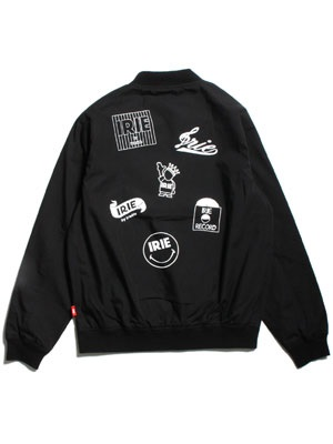 IRIE by irielife(アイリーバイアイリーライフ)/ IRIE MULTI LOGO STADIUM JACKET -BLACK-