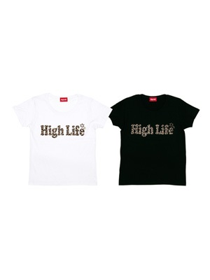 High Life(ハイライフ)/ LEOPARD LOGO TEE -2.COLOR- -Lady's-