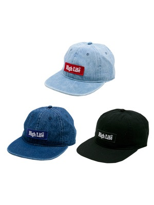 High Life(ハイライフ)/ BOX LOGO DENIM 6P CAP -3.COLOR-