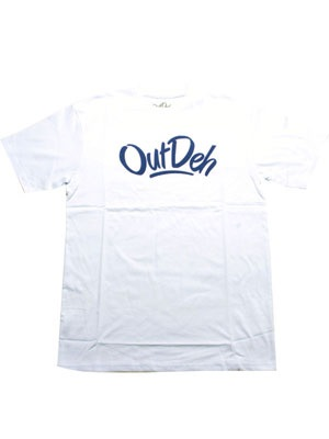 OutDeh(アウトデヤ)/ LARGE LOGO T-SHIRT -WHITE-