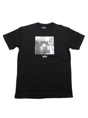 OutDeh(アウトデヤ)/ DAVID CORIO REFUGEE T-SHIRT -BLACK-