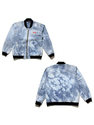 MURAL(ミューラル)/ BLEACH DENIM JACKET -HICKORY-