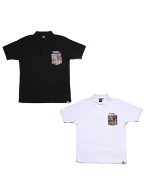 MURAL(ミューラル)/ COMICS POCKET POLO SHIRT