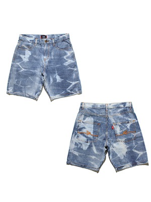 MURAL(ミューラル)/ BLEACH DENIM SHORTS -HICKORY-