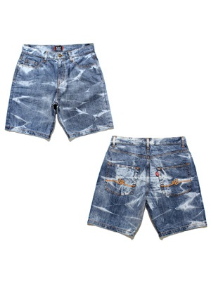 MURAL(ミューラル)/ BLEACH DENIM SHORTS -INDIGO-
