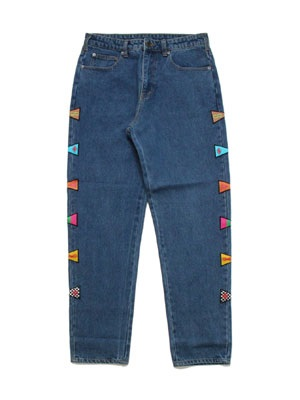 SCREP(スクレップ)/ FLAG DENIM PANTS
