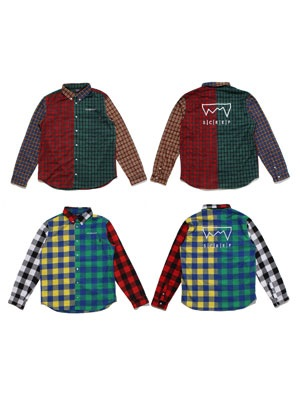 SCREP(スクレップ)/ CRAZY CHECK SHIRT