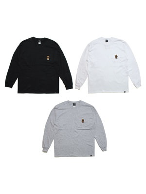 SCREP(スクレップ)/ BEAR POCKET L/S T-SHIRT