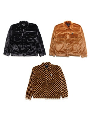 SCREP(スクレップ)/ FUR TRUCKER JACKET