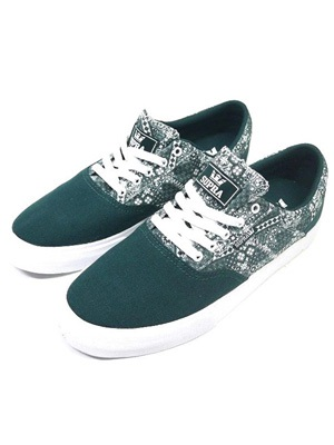 SUPRA(スープラ)/ COBALT -EVERGREEN PRINT×WHITE-