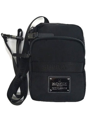 SUPRA(スープラ)/ ×MAKAVELIC CROSS -TIE POUCH -BLACK-