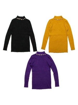 Tome2H(トミトエイチ)/ MOCK NECK RIB KNIT -Lady's-