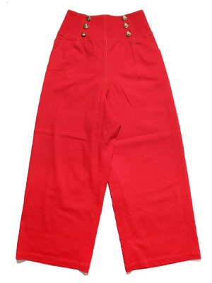 Tome2H(トミトエイチ)/ HIGH WAIST WIDE PANTS -RED- -Lady's-