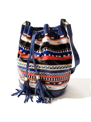 Tome2H(トミトエイチ)/ MARINE STRIPE BUCKET BAG -Lady's-