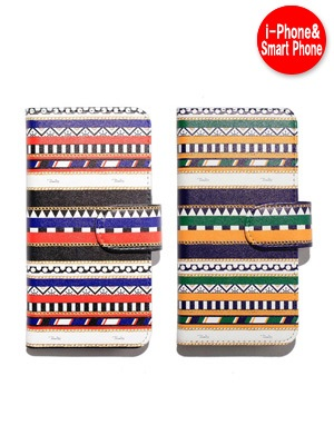 Tome2H(トミトエイチ)/ MARINE STRIPE SMART PHONE CASE -Lady's-
