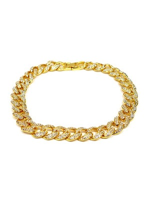 ADVANCE(アドバンス)/ GOLD CHAIN NECKLACE -喜平 CUBIC ZIRCONIA 40cm-