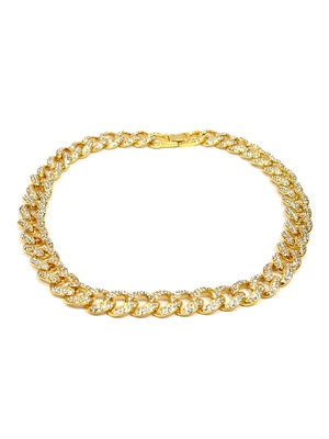 ADVANCE(アドバンス)/ GOLD CHAIN NECKLACE -喜平 CUBIC ZIRCONIA 50cm-