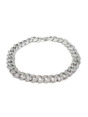 ADVANCE(アドバンス)/ SILVER CHAIN NECKLACE -喜平 CUBIC ZIRCONIA 40cm-