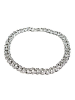 ADVANCE(アドバンス)/ SILVER CHAIN NECKLACE -喜平 CUBIC ZIRCONIA 50cm-