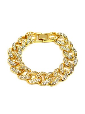 ADVANCE(アドバンス)/ GOLD CHAIN BRACERET -喜平 CUBIC ZIRCONIA-