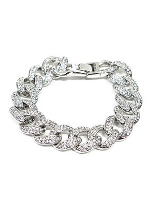 ADVANCE(アドバンス)/ SILVER CHAIN BRACERET -喜平 CUBIC ZIRCONIA-