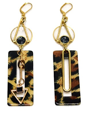 BOW(ボウ)/ LEOPARD PIERCE -Lady's-