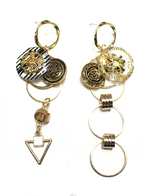 BOW(ボウ)/ VINTAGE CLEAR ASIME PIERCE -Lady's-