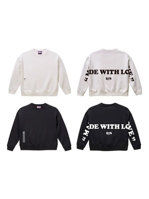 IRIE by irielife(アイリーバイアイリーライフ)/ MADE WITH LOVE BIG CREW SWEAT