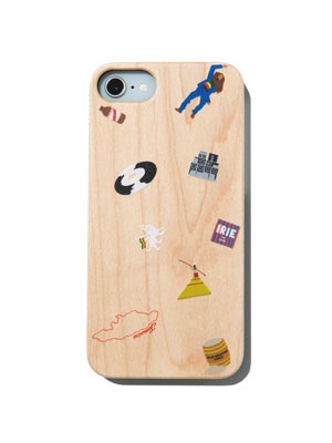 IRIE by irielife(アイリーバイアイリーライフ)/ JAMAICAN ICON WOOD i-Phone CASE